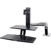 Ergotron® WorkFit-A Sit-Stand Workstation w/Suspended Keyboard, For Standard Monitor