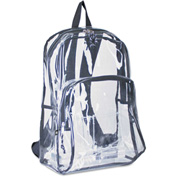 Eastsport® Backpack, PVC Plastic, 12 1/2 x 17 1/2 x 5 1/2, Clear
