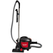 "Sanitaire® SC3700A Quiet Clean Canister Vac 11"" Cleaning Width, Red/Black"