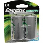Energizer® NH50BP-2 D e² NiMH Rechargeable Batteries 2 per Pack