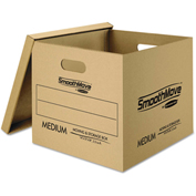 """Bankers Box® SmoothMove Classic Moving Boxes,8 SM: 15""""L x 12""""W x 10""""H,4 MED: 18""""L x 15""""W x 14""""H"""