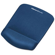 Fellowes® 9287301 PlushTouch™ Mouse Pad/Wrist Rest, Blue