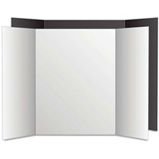 "Royal Eco Brites® Too Cool Tri-Fold Poster Board, 36"" x 48"", Black/White, 6/PK"