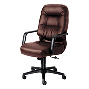 HON® Executive Office Chair w/ Pillow Top - Leather - High Back - Burgundy - Pillowsoft Series