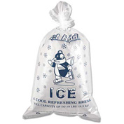 "Printed Ice Bag 12"" x 21"" 10Lb Capacity 1.5 Mil - 1000 Pack"