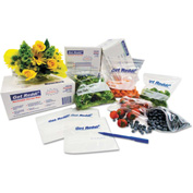"Inteplast Group Food Bags 30"" x 12"" x 8"" 0.75 Mil Clear - 500 Pack"