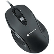 Innovera™ 61014 Full-Size Wired Optical Mouse, Black