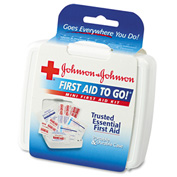 Johnson & Johnson Red Cross 8295 Mini First Aid To Go Kit, 12 Pieces, Plastic Case