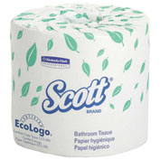 SCOTT Embossed Premium Bathroom Tissue, 605 Sheets/Roll, 20 Rolls/Carton - KIM13607