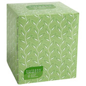 Surpass 2-ply White Facial Tissue Boutique Pop-up Box, 110/Box, 36 Boxes/Carton - KIM21320