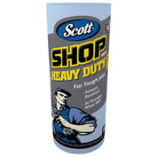 "Scott Pro Shop Towels, 1-Ply, Blue, 10-2/5"" X 11"", 12 Cans/Case - KIM32992"