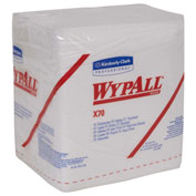 "Wypall X70 Wipers, 1/4-Fold, 12-1/2"" X 14-2/5"", White, 12/Case - KIM41200"