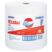 "Wypall X70 Perforated Wipes, Jumbo Roll, 12-1/2"" X 13-2/5"", White, 870/Roll - KIM41600"