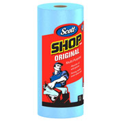 "Scott Shop Towels, 10-2/5"" X 11"", Blue, 12 Rolls/Case - KIM75147"