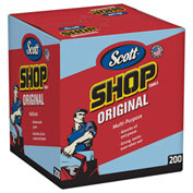 "Scott Shop Towels, Blue Double Recrepe,10"" X 13"", 8 Boxes/Case - KIM75190"