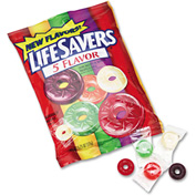 Life Savers® Hard Candy, Assorted, Individually Wrapped, 6.25 Oz Bag