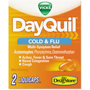 DayQuil® Cold & Flu Caplets, Daytime, Refill, 20 Two-Packs/Box