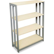 "Linea Italia Bookcase with 3 Shelves - 31-1/2""W x 11-5/8""D x 43-1/4""H - Oatmeal - Trento Series"