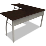 "Linea Italia L-Shaped Desk - 59""W x 59""D x 29-1/2""H - Mocha - Trento Series"
