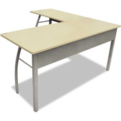"Linea Italia L-Shaped Desk - 59""W x 59""D x 29-1/2""H - Oatmeal - Trento Series"