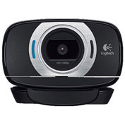 Logitech® LOG960000733 C615 HD Webcam, 1080p, Black/Silver