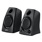 Logitech® Z130 Compact Laptop Speakers, 3.5mm Jack, Black