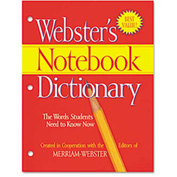 Merriam Webster Notebook Dictionary, Three Hole Punched, Paperback, 80 Pages