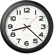 "Howard Miller® Norcross Auto Daylight-Savings Wall Clock, 15-3/4"", Black, 1 AA"