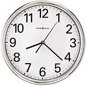 "Howard Miller® Hamilton Wall Clock, 12"", Silver, 1 AA"