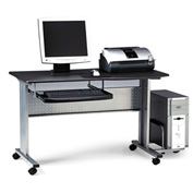"Mayline 8100TDANT Eastwinds Mobile Work Table, 57""W x 23-1/2""D x 29""H, Anthracite"
