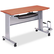 "Mayline 8100TDMEC Eastwinds Mobile Work Table, 57""W x 23-1/2""D x 29""H, Medium Cherry"