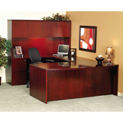 "Mayline CR2072C Luminary Series Wood Veneer Credenza Shell, 72""W x 20""D x 29""H, Cherry"