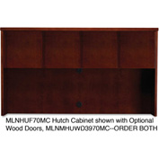 "Mayline MHUF70MC Mira Series Veneer Assembled Hutch Frame, 70""W x 14""D x 39""H, Medium Cherry"