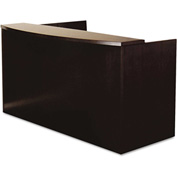 "Mayline MRS7278ESP Mira Series Wood Veneer Reception Desk Shell, 72""W x 36""D x 43-1/2""H, Espresso"