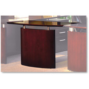 "Mayline NBDGRMAH Napoli Series Right-Hand Wood Veneer Bridge, 48""W x 24""D x 29-1/2""H, Mahogany"
