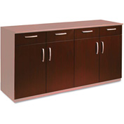Mayline VBCZDCRY Wood Veneer Buffet Credenza Doors/Drawers, Sierra Cherry
