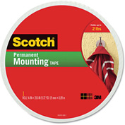 "Scotch® Foam Mounting Double-Sided Tape, 3/4"" Wide x 350"" Long"
