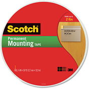 "Scotch® Foam Mounting Tape, 3/4"" Wide x 1368"" Long"