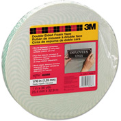 "Scotch® Foam Mounting Double-Sided Tape, 1"" Wide x 216"" Long"