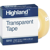 Highland Transparent Tape, 1/2