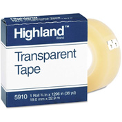 Highland Transparent Tape, 3/4
