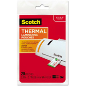 Scotch® Business Card Size Thermal Laminating Pouches, 5 mil, 3 3/4 x 2 3/8, 20/Pack