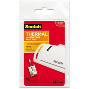 Scotch® ID Badge Size Thermal Laminating Pouches, 5 mil, 4 1/4 x 2 1/5, 10/Pack