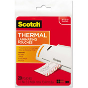 Scotch® Index Card Size Thermal Laminating Pouches, 5 mil, 5 3/8 x 3 3/4, 20/Pack
