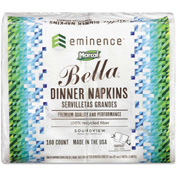 Marcal PRO™ 100% Premium Recycled Bella SnapPac Dinner Napkins, 15 x 17, White, 3000/Carton