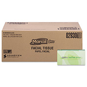 100% Premium Recycled Facial Tissue, 100/Box, 30 Boxes/Carton - MRC2930