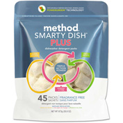 Method® Smarty Dish Plus Detergent Tabs Fragrance Fee, 45 Tabs/Bag 1/Case - MTH01266