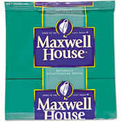 Maxwell House Coffee Filter Packs, Decaffeinated, 0.7 oz., 100/Carton