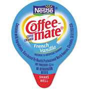 Coffee-Mate Liquid Creamer Mini Cups, French Vanilla, Non-Dairy, 0.38 Oz, 180/Box