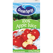 Ocean Spray Aseptic Juice Boxes, 100% Apple, No Sugar Added, 4.2 Oz, 40/Carton